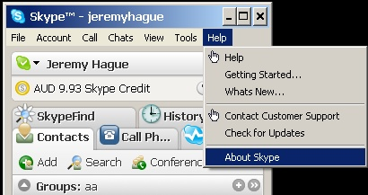 Skype About