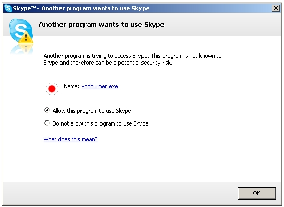Skype Security Control