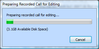 Preparing the call for editing dialog